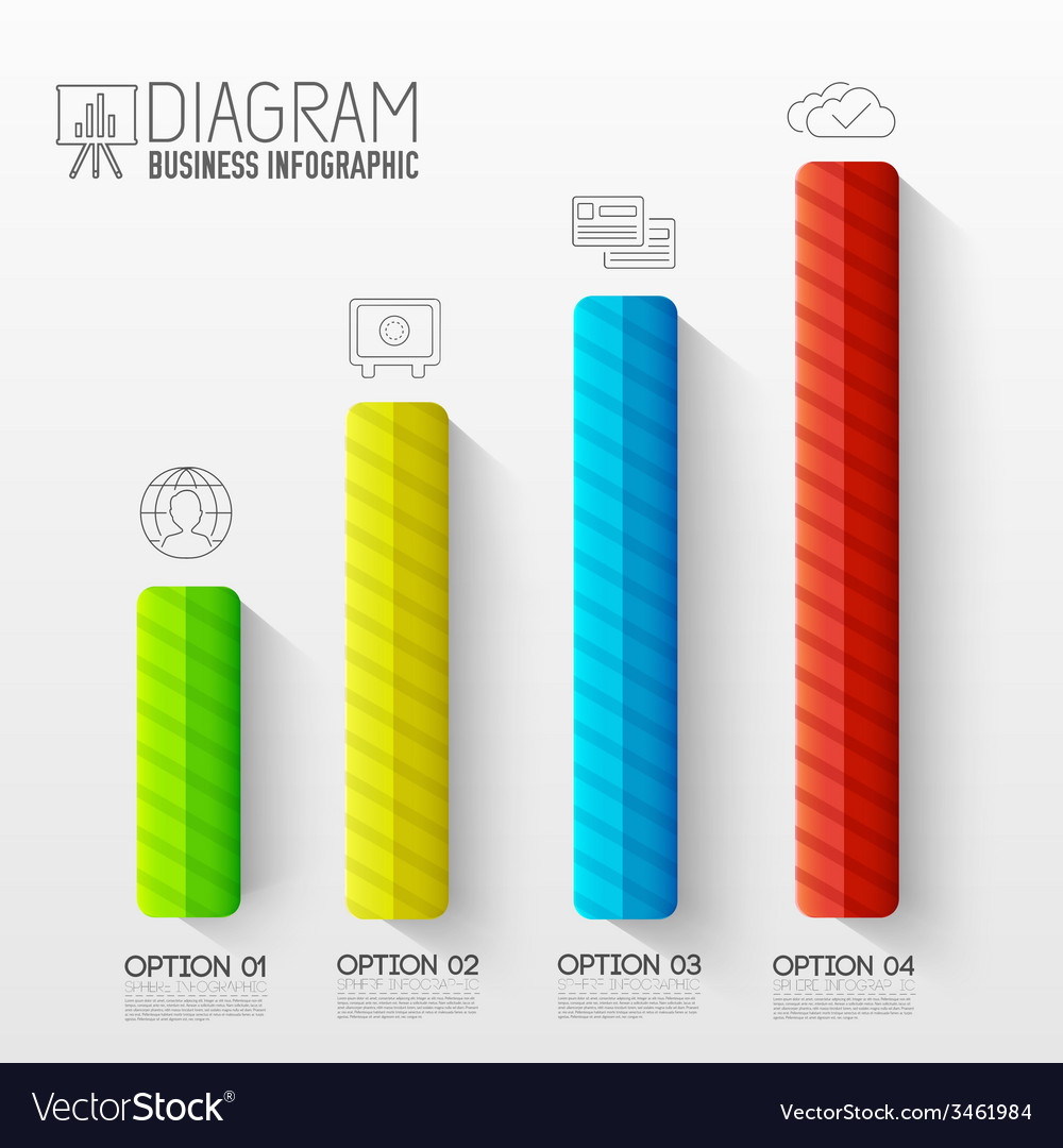 Business abstract 3d digital infographic vector | Price: 1 Credit (USD $1)