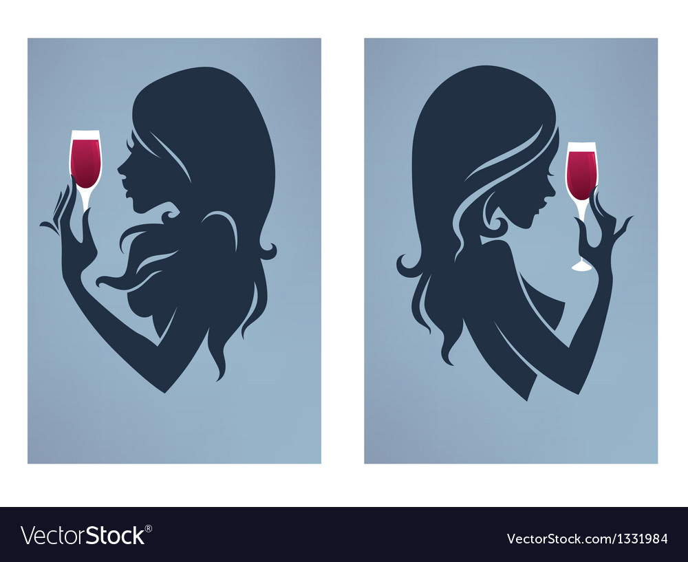 Drinking girls vector | Price: 1 Credit (USD $1)