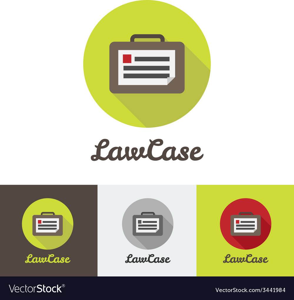 Flat modern minimalistic briefcase logo vector | Price: 1 Credit (USD $1)