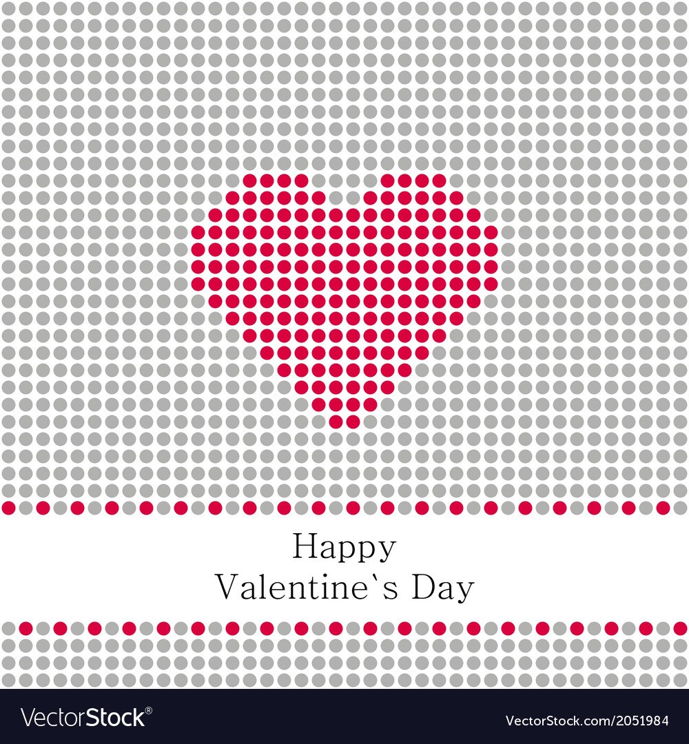 Greeting card valentines day with grey circles and vector | Price: 1 Credit (USD $1)