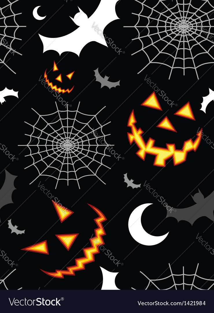 Halloween terror background pattern vector | Price: 1 Credit (USD $1)