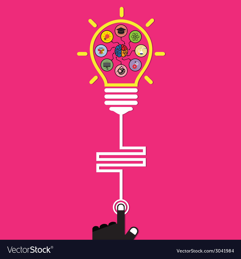 Infographic template creative light bulb vector | Price: 1 Credit (USD $1)