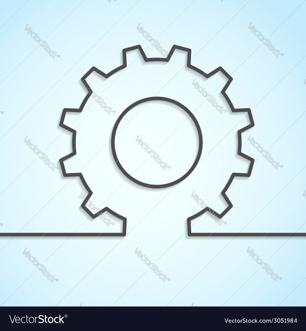 Mechanical cog wheel abstract background vector | Price: 1 Credit (USD $1)