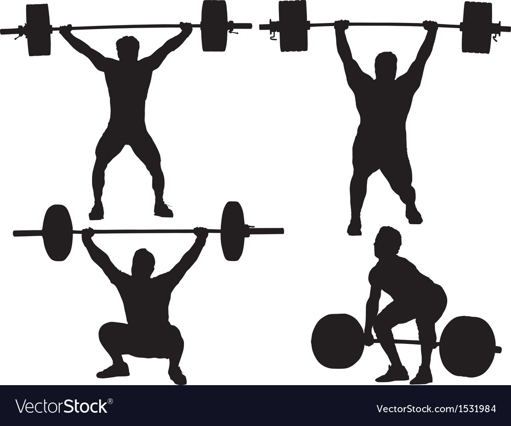 Weight lifting silhouette vector | Price: 1 Credit (USD $1)