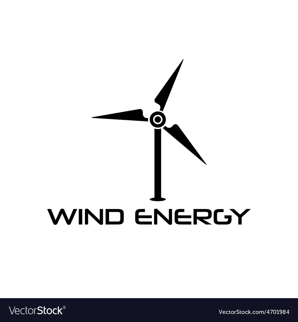 Wind turbine design template vector | Price: 1 Credit (USD $1)