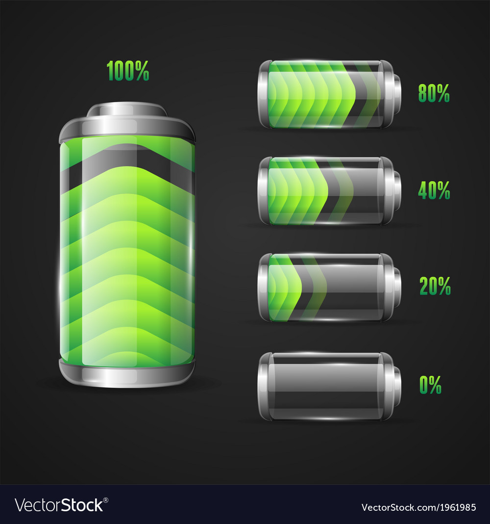 Battery full level indicator vector | Price: 1 Credit (USD $1)