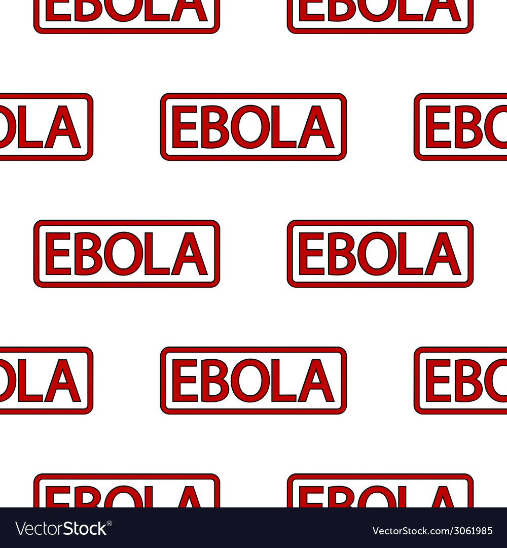 Ebola stamp seamless pattern vector | Price: 1 Credit (USD $1)