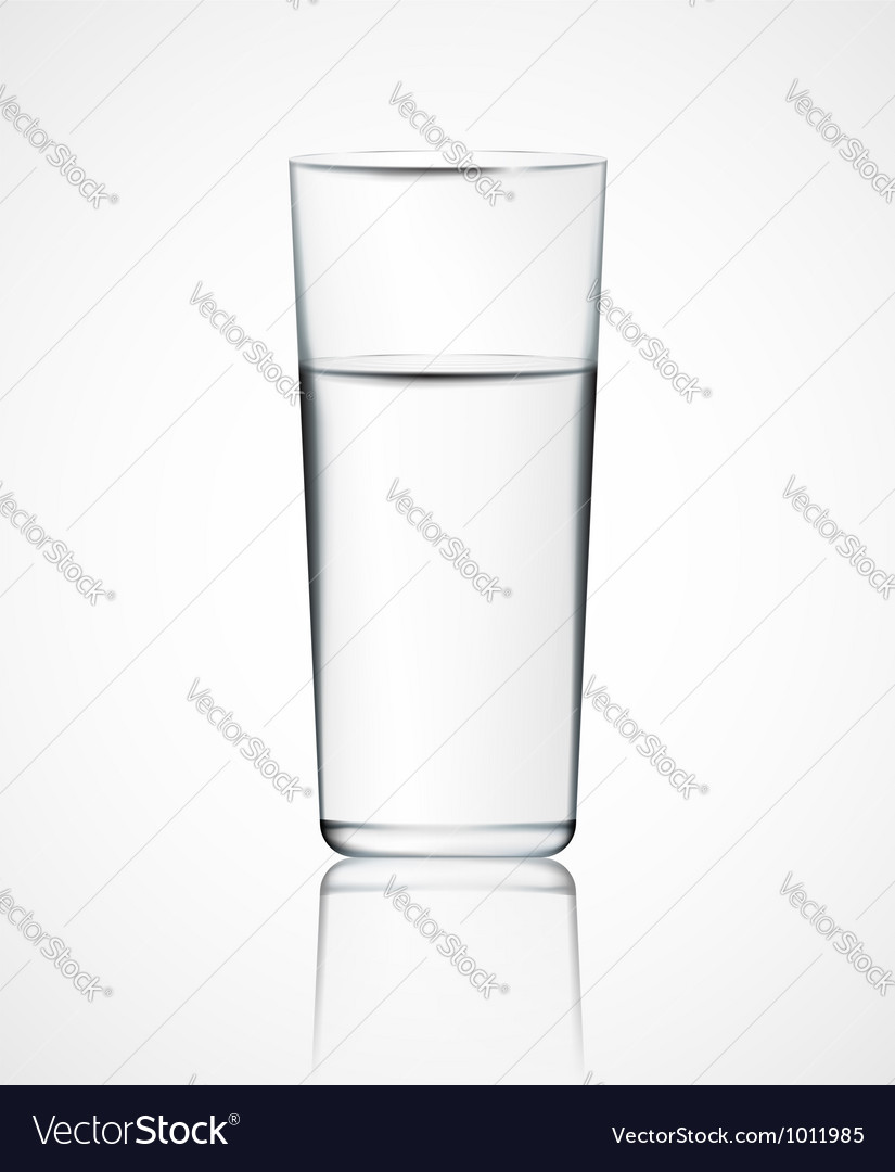 Glass of water vector | Price: 1 Credit (USD $1)