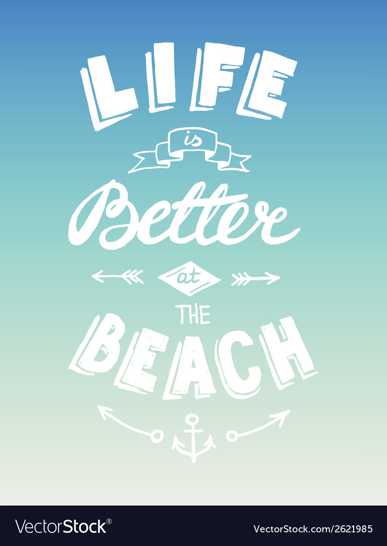 Hand drawn summer quotation vector | Price: 1 Credit (USD $1)