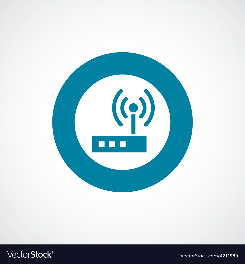 Modem icon bold blue circle border vector | Price: 1 Credit (USD $1)