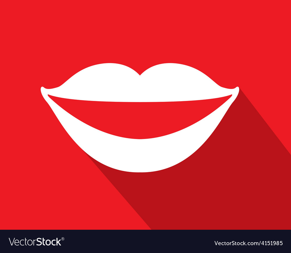 Mouth icon vector