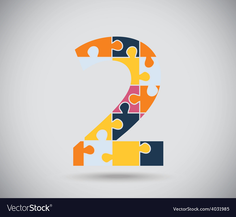 Number two vector | Price: 1 Credit (USD $1)