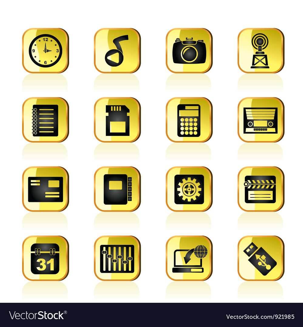 Phone performance internet and office icons vector | Price: 1 Credit (USD $1)