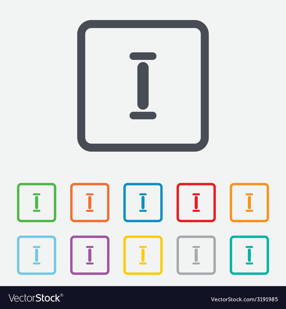 Roman numeral one icon roman number one sign vector   Price: 1 Credit (USD $1)