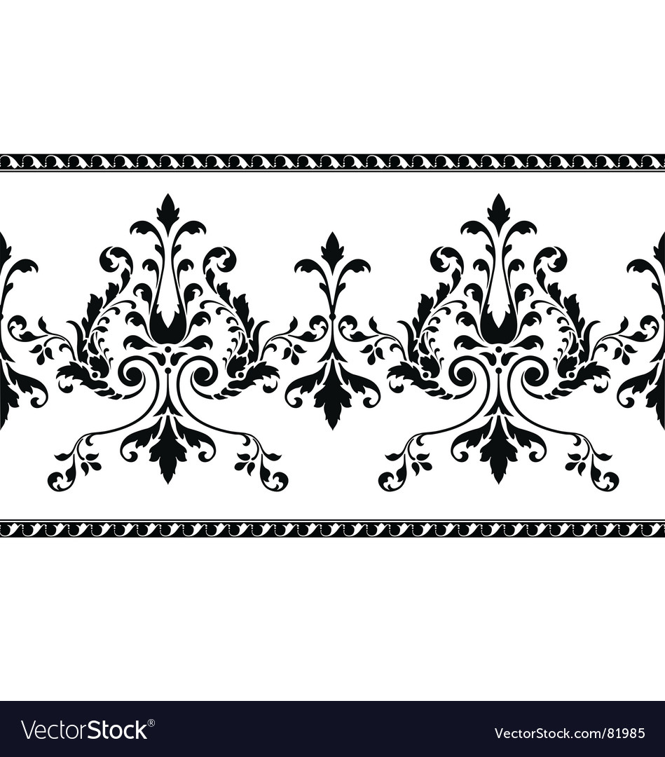 Scroll border vector | Price: 1 Credit (USD $1)