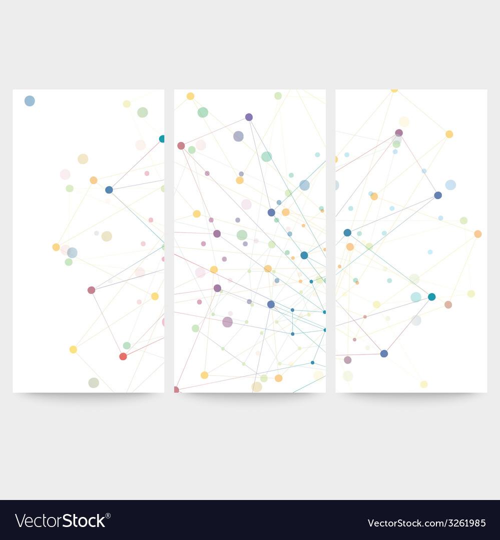 Set of digital backgrounds for communication vector | Price: 1 Credit (USD $1)