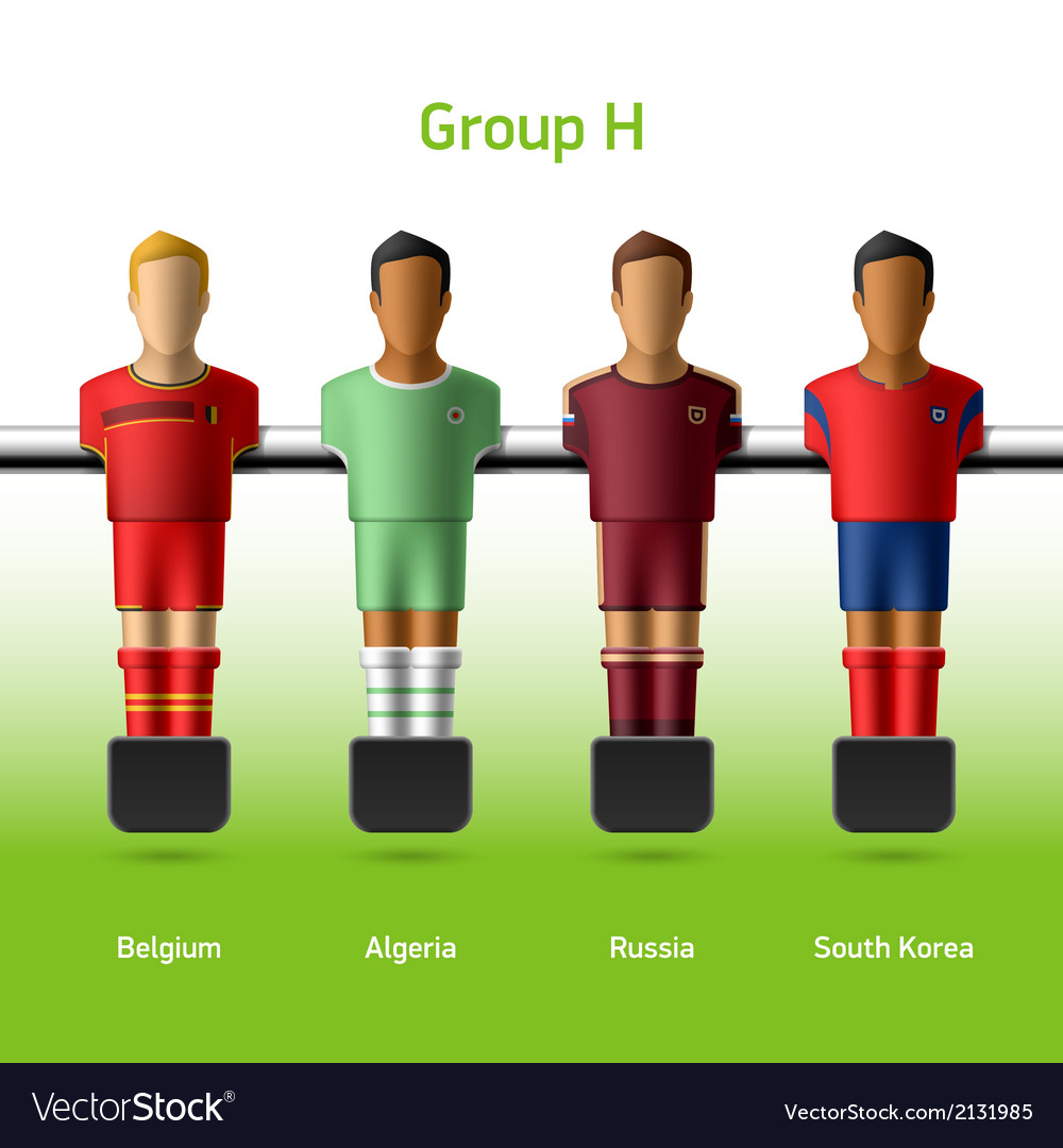 Table football foosball players vector | Price: 1 Credit (USD $1)