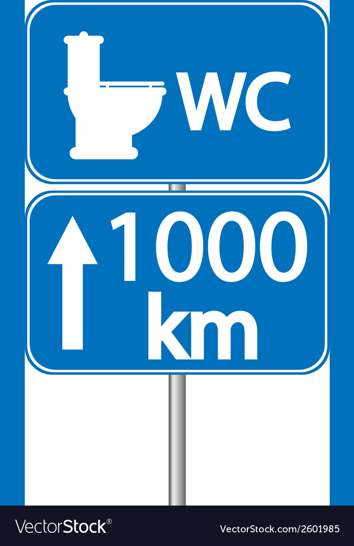 Toilet roadsign vector | Price: 1 Credit (USD $1)