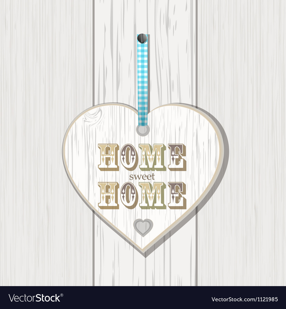 Wooden home sign on white wood vector | Price: 1 Credit (USD $1)