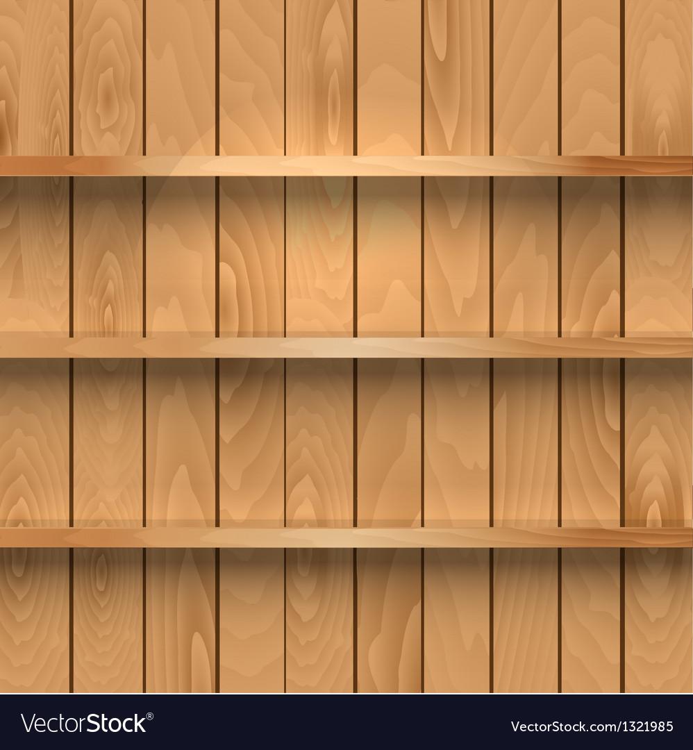 Wooden shelves vector   Price: 1 Credit (USD $1)