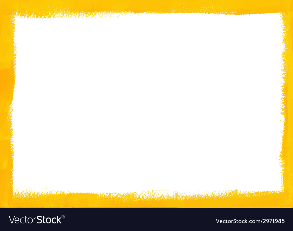 Yellow grunge frame vector | Price: 1 Credit (USD $1)