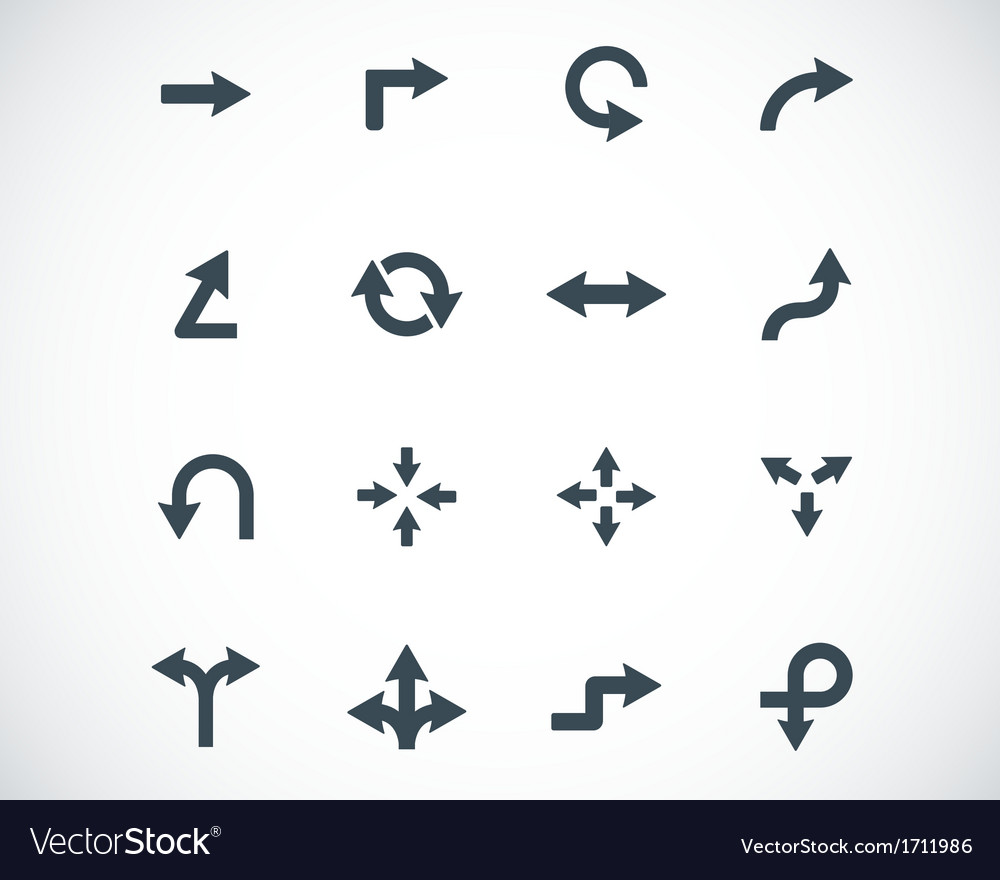 Black icon arrows icons vector | Price: 1 Credit (USD $1)