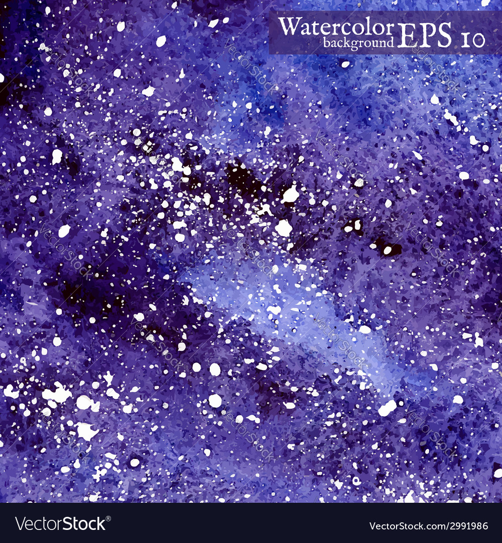 Blue space background watercolor vector   Price: 1 Credit (USD $1)