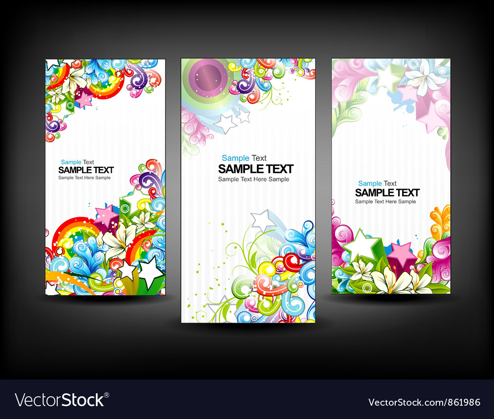 Colorful banners set vector | Price: 1 Credit (USD $1)