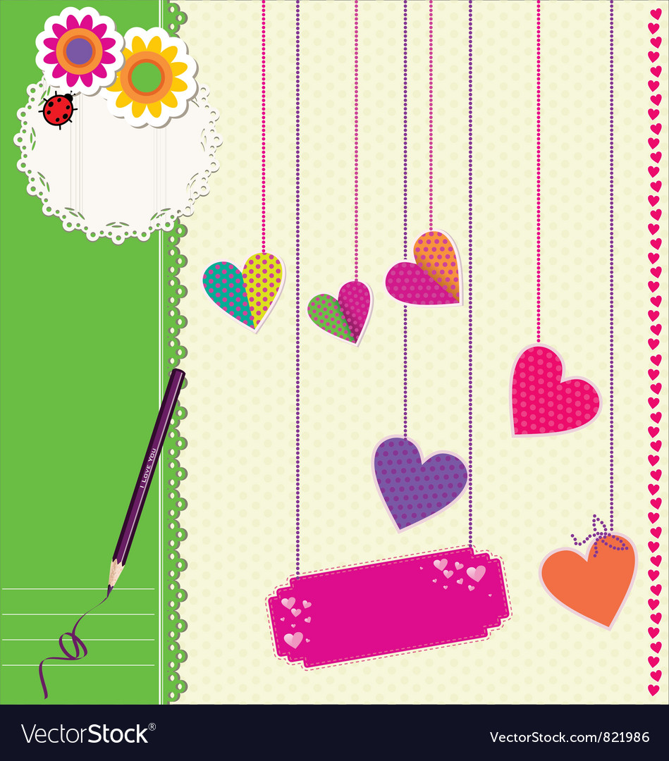 Cute love background vector | Price: 1 Credit (USD $1)