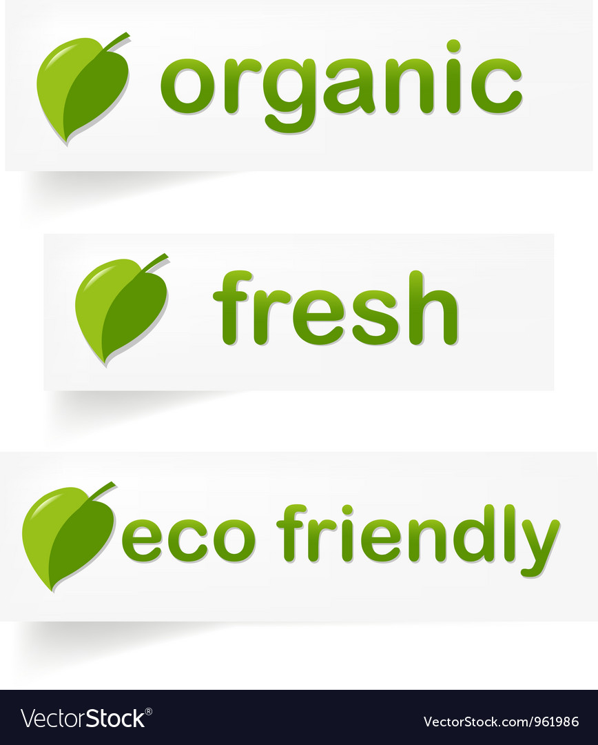 Eco labels vector | Price: 1 Credit (USD $1)
