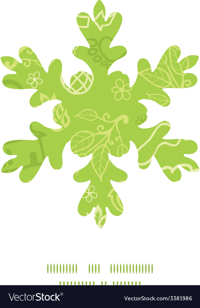 Environmental christmas snowflake silhouette vector   Price: 1 Credit (USD $1)