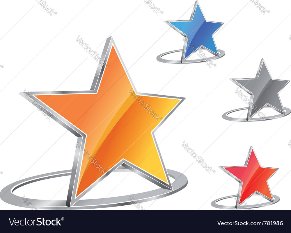 Glossy star emblem vector | Price: 1 Credit (USD $1)