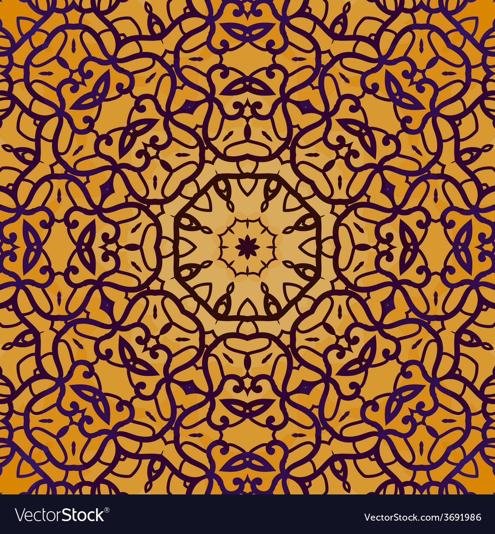 Henna color seamless outline colorful background vector | Price: 1 Credit (USD $1)