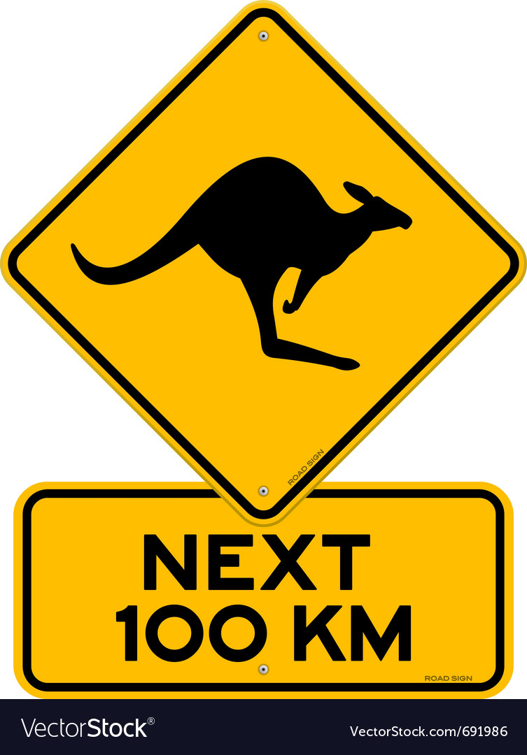 Kangaroos next 100 km vector | Price: 1 Credit (USD $1)
