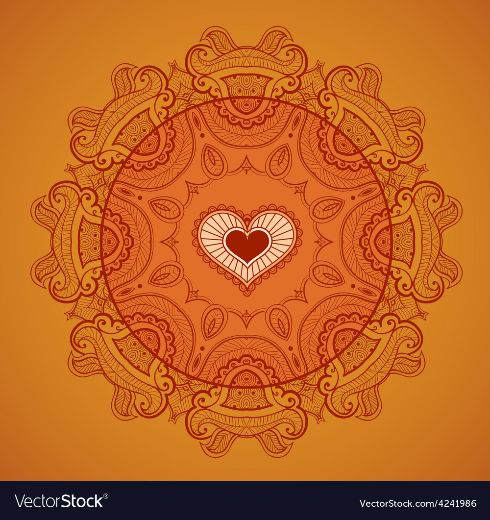 Lace background for greeting card like indian vector | Price: 1 Credit (USD $1)