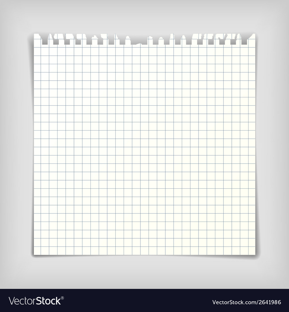 Note paper sheet with squares vector | Price: 1 Credit (USD $1)