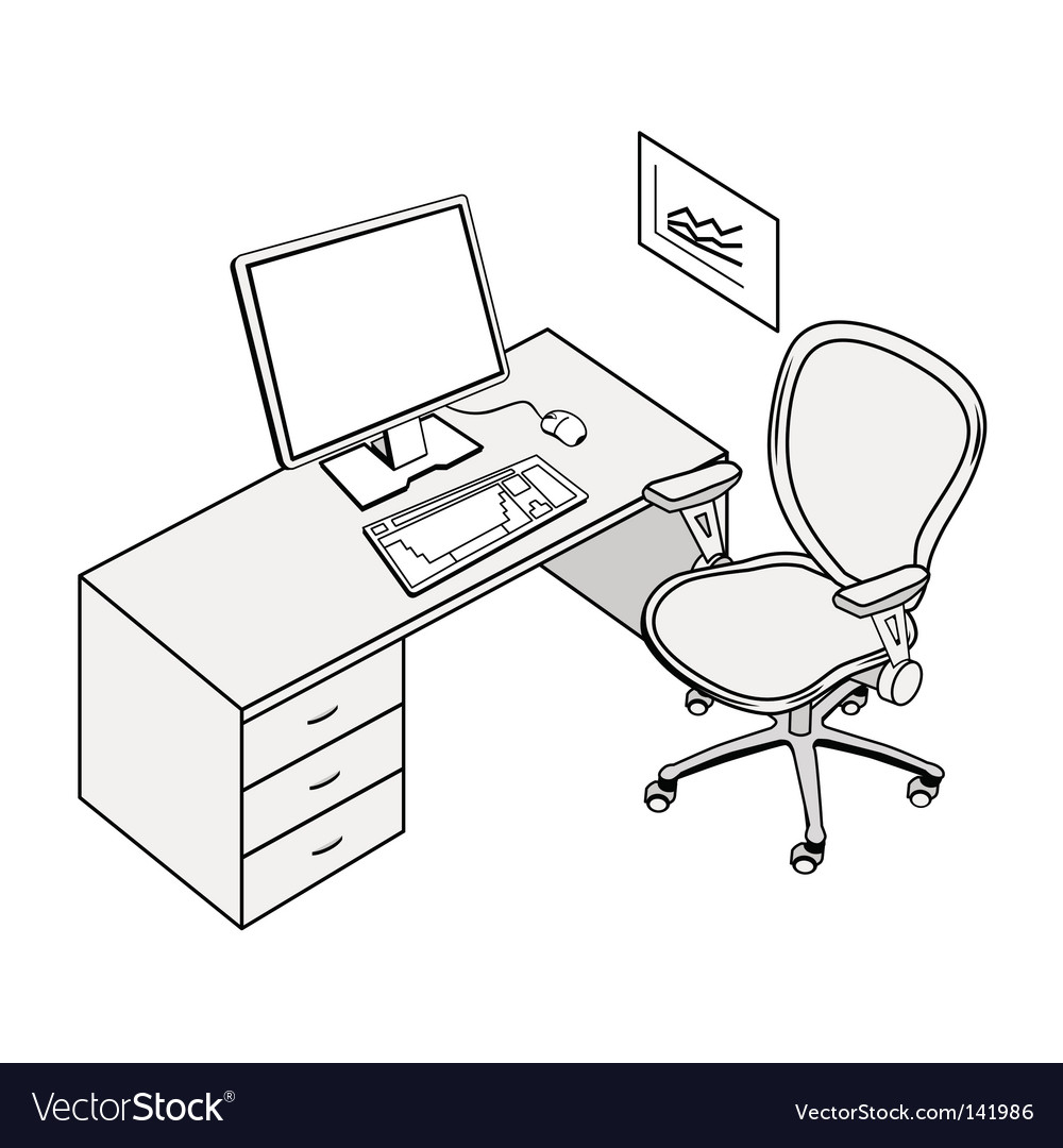 Office place vector | Price: 1 Credit (USD $1)
