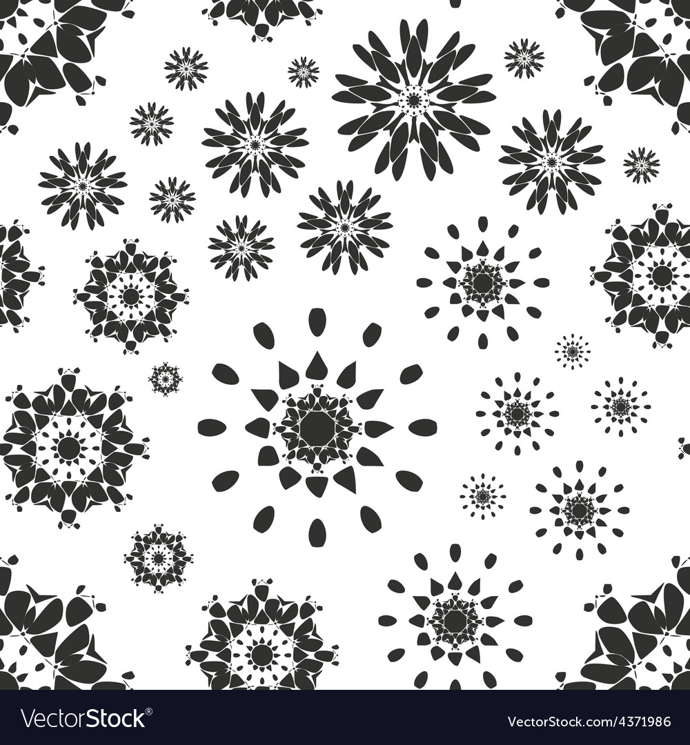 Seamless pattern with abstract flowers repeating vector | Price: 1 Credit (USD $1)