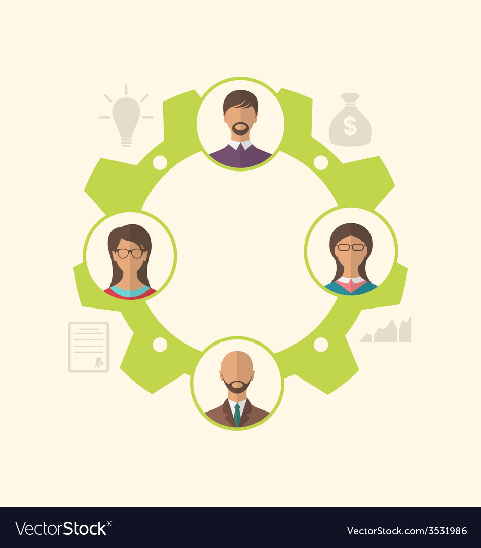 Unity of business people leading to success - vector   Price: 1 Credit (USD $1)