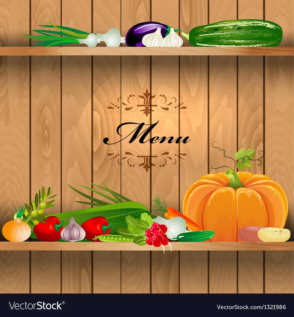 Vegetables shelf menu vector | Price: 1 Credit (USD $1)