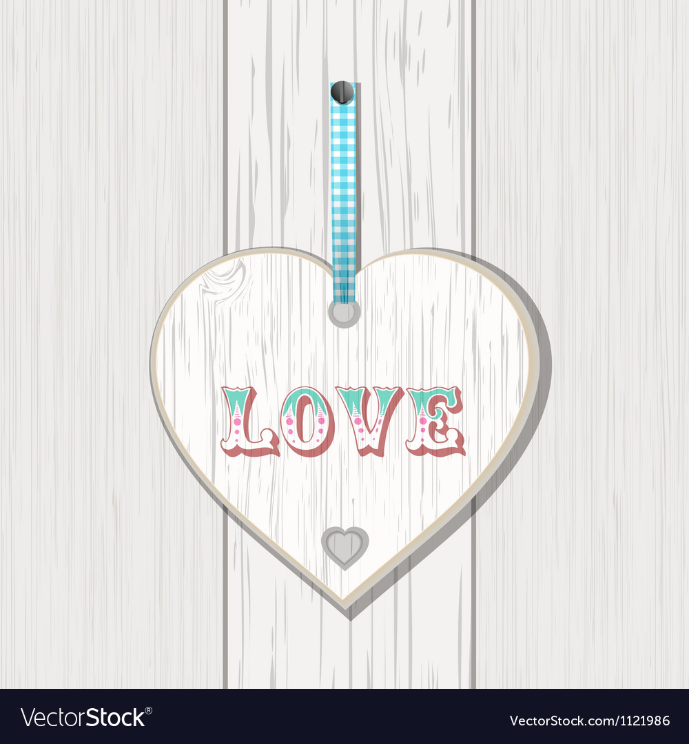 Wooden heart love sign vector | Price: 1 Credit (USD $1)