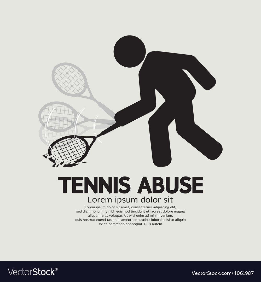 Black symbol graphic tennis abuse vector | Price: 1 Credit (USD $1)