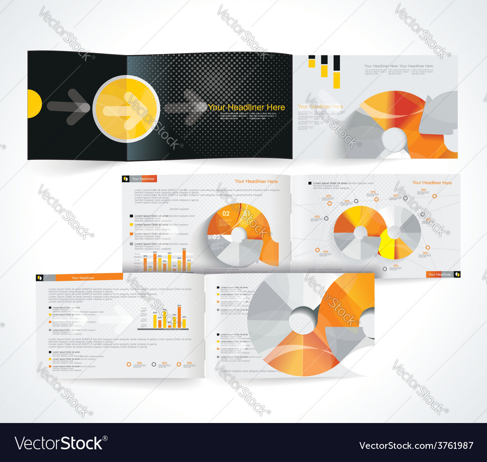 Blank catalog horizontal format vector   Price: 1 Credit (USD $1)