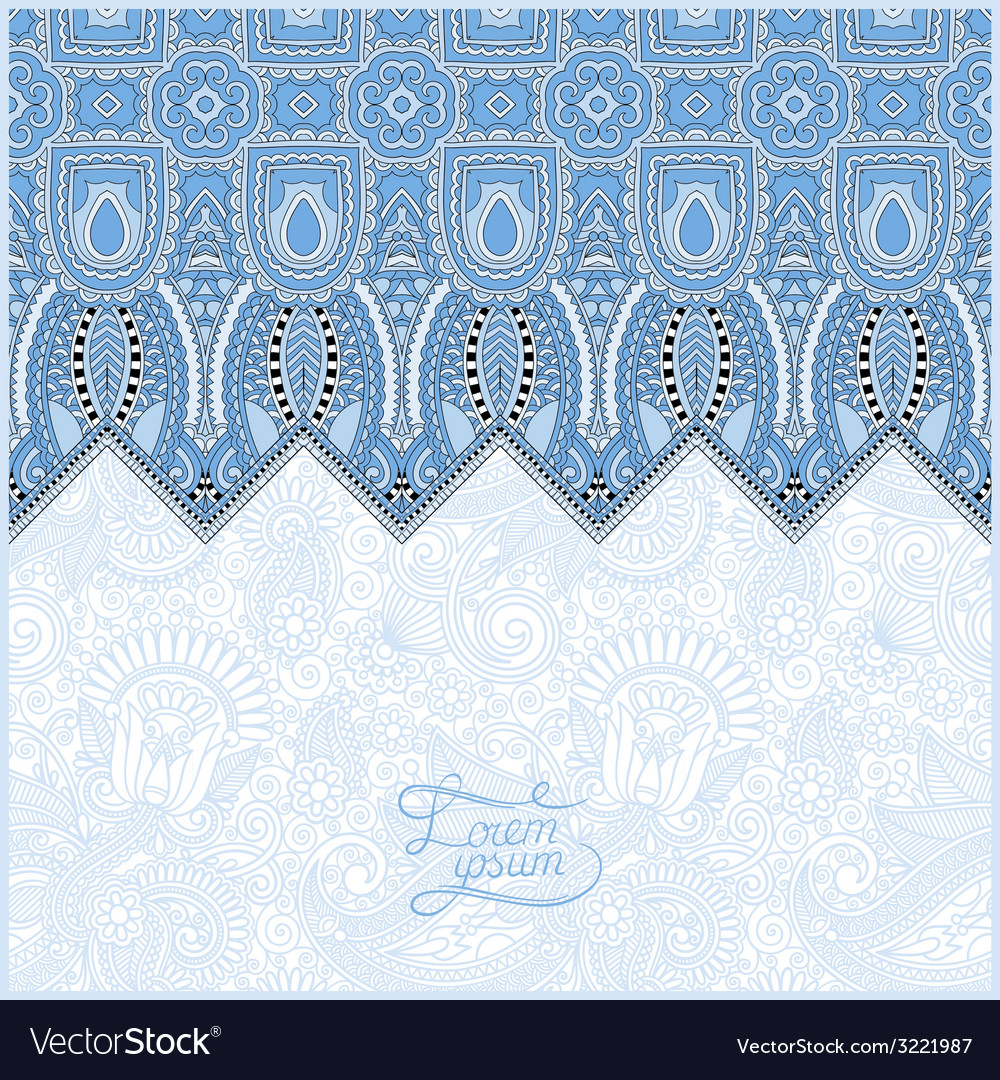 Blue colour moroccan template with place for your vector | Price: 1 Credit (USD $1)