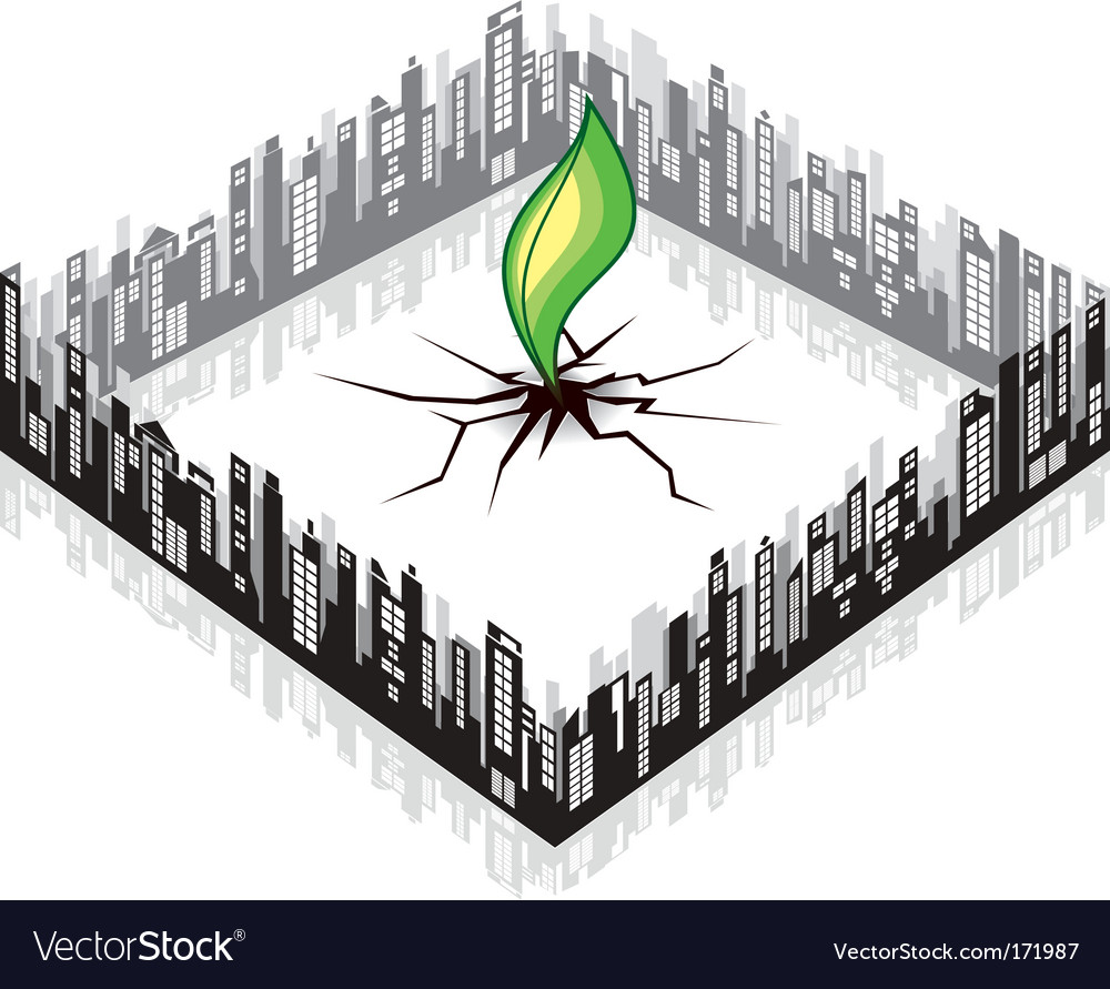 Ecology cityscape vector | Price: 1 Credit (USD $1)