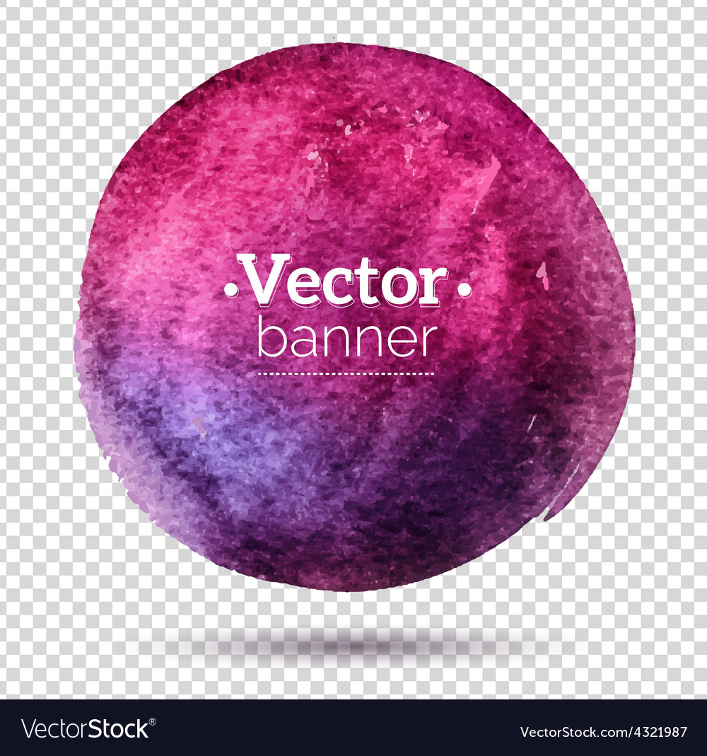 Hand painted watercolor banner vector | Price: 1 Credit (USD $1)