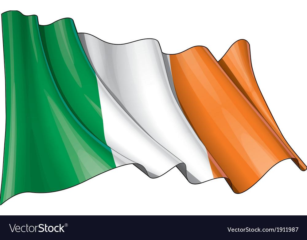 Ireland flag grunge vector | Price: 1 Credit (USD $1)