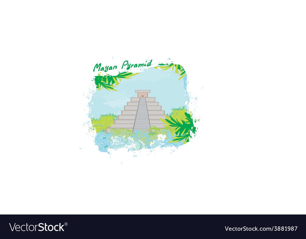 Mayan pyramid chichen-itza mexico - vector | Price: 1 Credit (USD $1)
