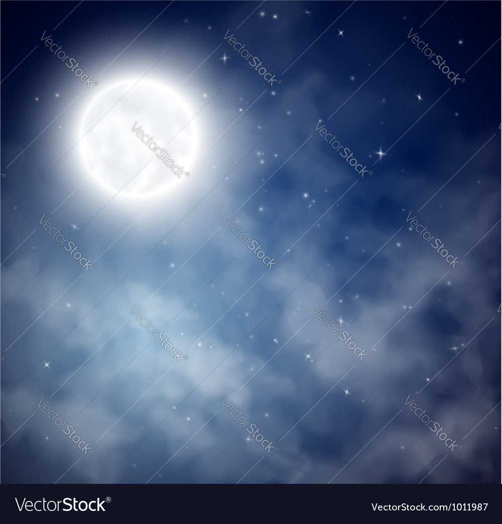 Night sky background vector | Price: 1 Credit (USD $1)