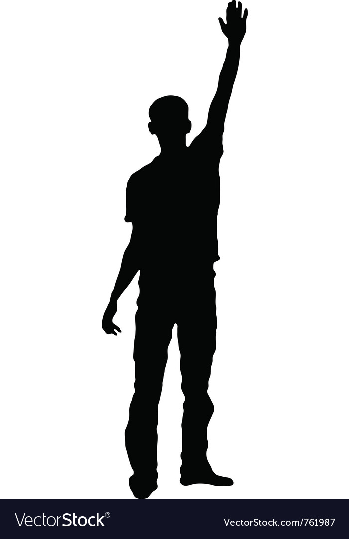 Silhouette of a saluting man vector | Price: 1 Credit (USD $1)